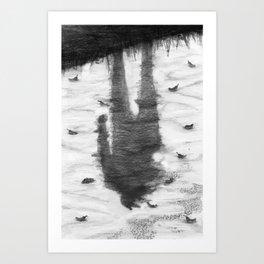 Oyster Catchers Art Print