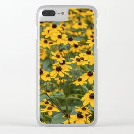 Field of Brown Eyed Susans Clear iPhone Case