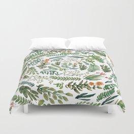 Circular Green Garden Duvet Cover