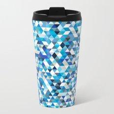 Icy triangles Metal Travel Mug