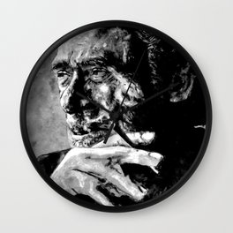 Charles Bukowski - love version - black Wall Clock