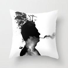 URBAN BLACK MAN Throw Pillow