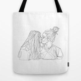 Girls kiss too Tote Bag