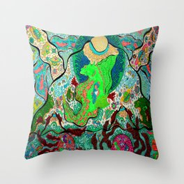 Sea Horse Volcano 2 Throw Pillow