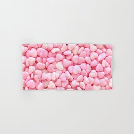 Pink Candy Hearts Hand & Bath Towel