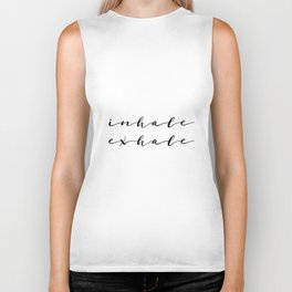Yoga Print Relax Print Inhale Exhale Just Breathe Meditation Art Yoga Quotes Yoga Art Inspirational Biker Tank