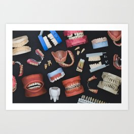 Tooth Collage Art Print
