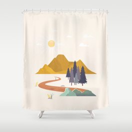 Finding the Path 01 Shower Curtain