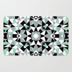 Abstract Kaleidoscope Mint Rug