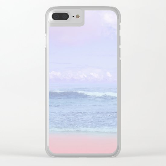 Pastel vibes 50 Clear iPhone Case
