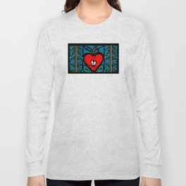 Apple Stained Glass Design Long Sleeve T-shirt