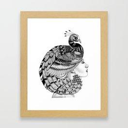 Peacock Cleopatra Framed Art Print