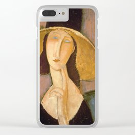 Amedeo Modigliani - Head Of A Woman Clear iPhone Case