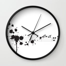 Splatter in D Minor Wall Clock