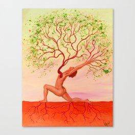 Anjaneyasana Canvas Print