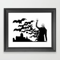 Nosferatu - the real bat Framed Art Print