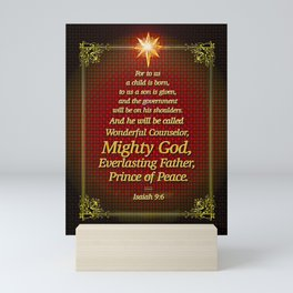 For to us a child is born . . . Mini Art Print