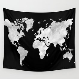 Design 70 world map Wall Tapestry
