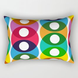 Geometric Pattern #64 (colorful bubbles) Rectangular Pillow