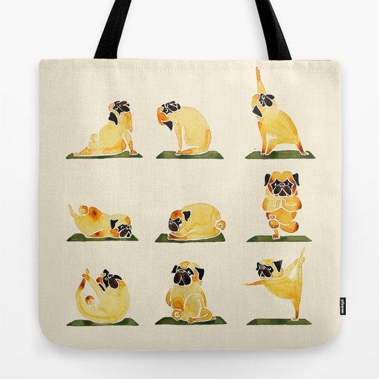 Pug Yoga Watercolor Tote Bag by huebucket   Society6 1ad91c77ea
