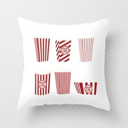 Movie and Popcorn Time Throw Pillow