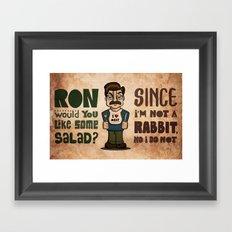 Ron Swanson 2 Framed Art Print