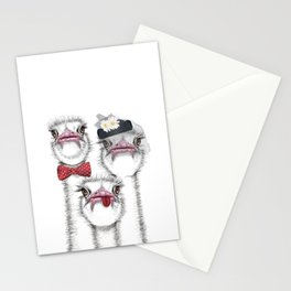 Ostrich family Stationery Cards