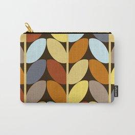 Retro 70s Color Palette Leaf Pattern Carry-All Pouch