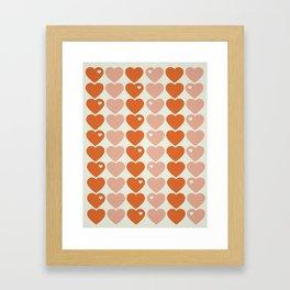 Bubblegum Hearts Framed Art Print