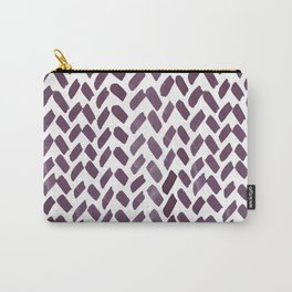Cute watercolor knitting pattern - purple gray Carry-All Pouch