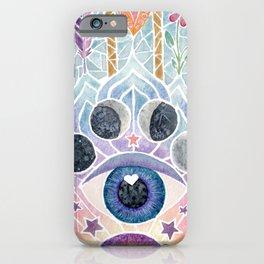 Watercolor Hamsa Hand Multicolor iPhone Case