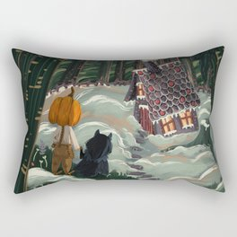 the witch in the gingerbreadhouse Rectangular Pillow
