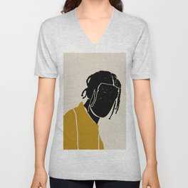 Black Hair No. 1 Unisex V-Neck