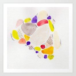tropicalfruits. Art Print