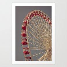 Chicago Wheel Art Print