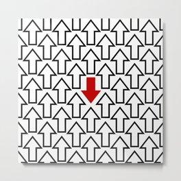 Anti trend arrow pattern  Metal Print