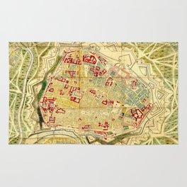 Vintage Map of Vienna Austria (1710) Rug