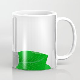 Energy saving bulb and green leaves Coffee Mug