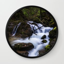 Magical waterfall in gorge Hell Wall Clock
