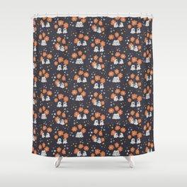 Ghosty love seamless pattern Shower Curtain