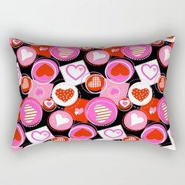 Crazy Hearts Rectangular Pillow