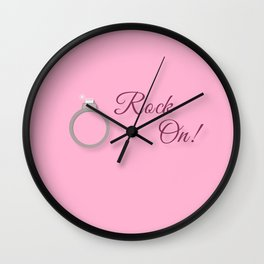 Rock On! Engagement Announcement Wall Clock