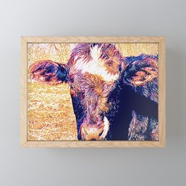 Steeple Hill Cow Framed Mini Art Print