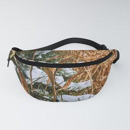 Winter field grass Fanny Pack