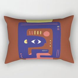Mother Earth - Minimal Modern Mid-Century Snake Rectangular Pillow