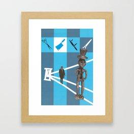 Cutting Work Framed Art Print