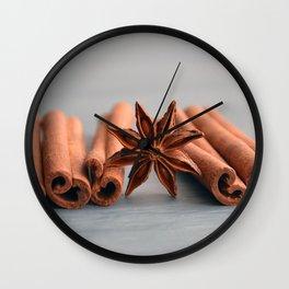 Cinnamon wallpaper Wall Clock