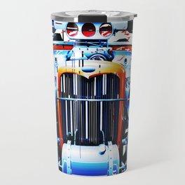 exploding pixels car Travel Mug