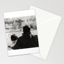Happy Father's Day #blackwhite Stationery Cards