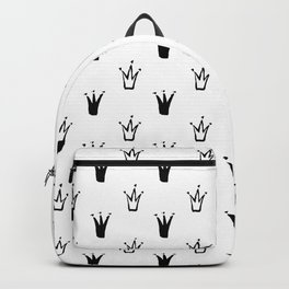 Crowns, Print, Minimal, Scandinavian, Abstract, Pattern, Modern art Backpack